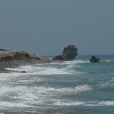 Paphos (Cipro): in spiaggia con Afrodite