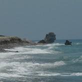Paphos (Cipro): in spiaggia con Afrodite